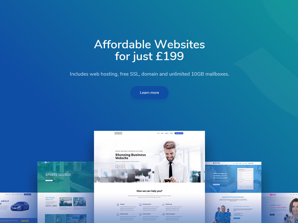Affordable Web Design with Web Hosting only £199