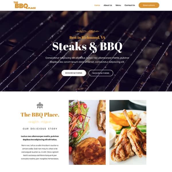 Web Design for a BBQ restaurant website - Harris Digital