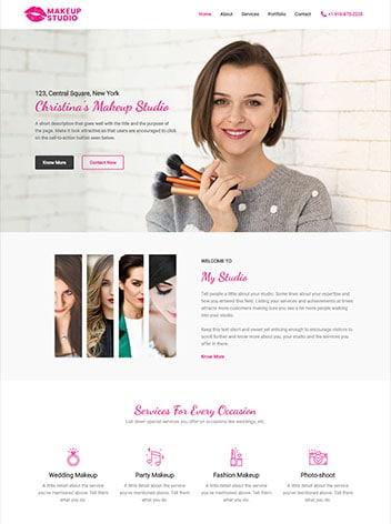 Web Design for a Make-up-Artist Website