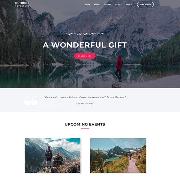 web design for an outdoor adventure website - Harris Digital